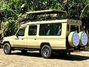Hire safari car mombasa, safari mini van with driver, land caruiser 4x4 4wd